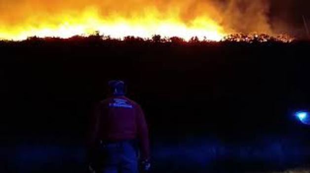 Incendio en Berroeta. POLICÍA FORAL