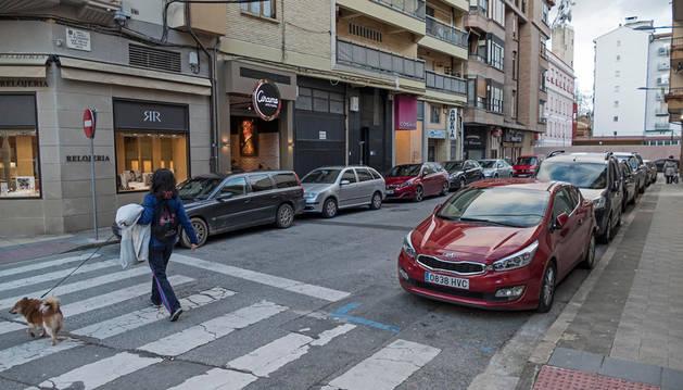 Calle García el Restaurador, anteriormente zona azul y ahora dentro de la nueva regulación.