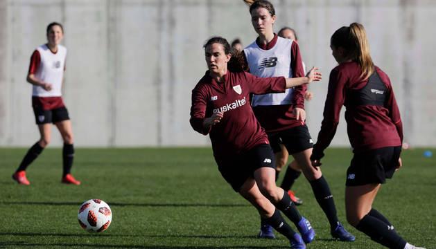 Entrenamiento del Athletic femenino.