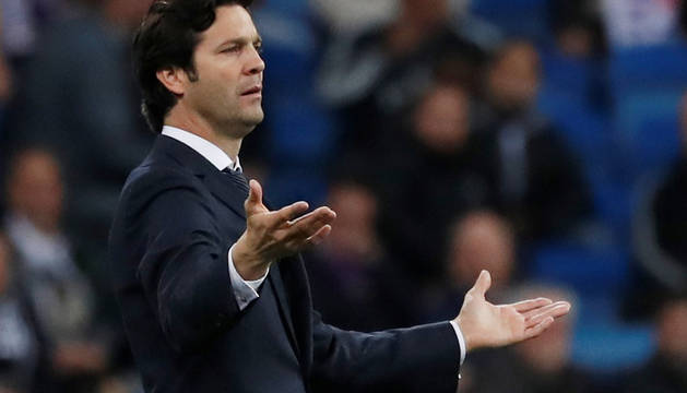Santiago Solari, entrenador del Real Madrid.