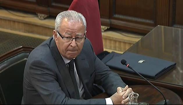 El comisario y director del Cuerpo Nacional de Policía durante el 1-O, Sebastián Trapote, durante su declaración como testigo en la decimotercera jornada del juicio del procés.