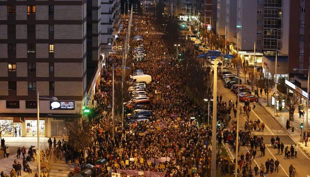 Manifestación del 8M en Pamplona