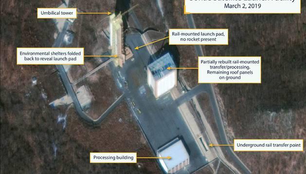 Fotos por satélite mostraron este miércoles que Corea del Norte está reconstruyendo una base de misiles que había empezado a desmantelar en 2018.