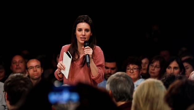 Foto de la portavoz de Unidos Podemos en el Congreso, Irene Montero.