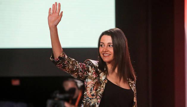 La portavoz de la Ejecutiva de Ciudadanos, Inés Arrimadas, durante un acto en Madrid.