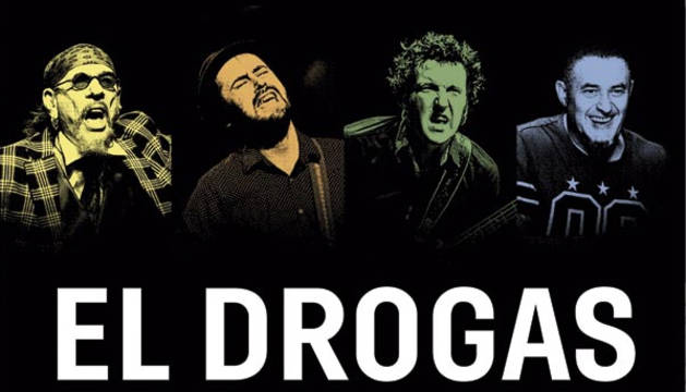 El Drogas y su banda, en el cartel anunciador de su nueva gira.