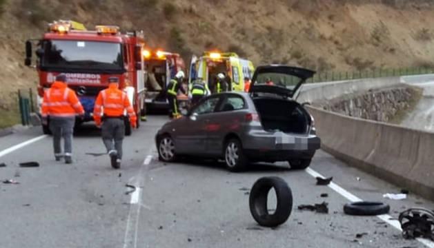 Fallece un motorista en el pantano de Itoiz