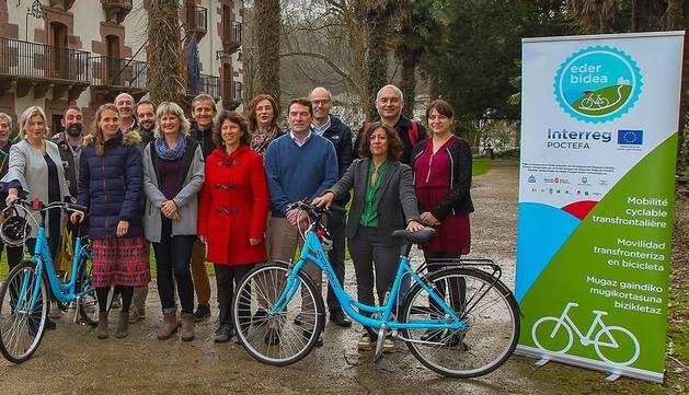 El Comité de Pilotaje del proyecto transfronterizo de movilidad sostenible en bicicleta Ederbidea se reúne en Bertiz