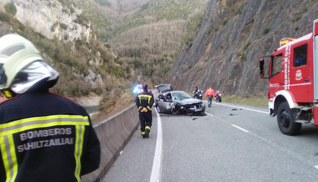 Accidente mortal junto al pantano de Itoiz.