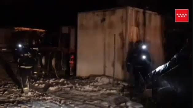 Un incendio en una zona de chabolas en Navalcarnero deja 14 heridos