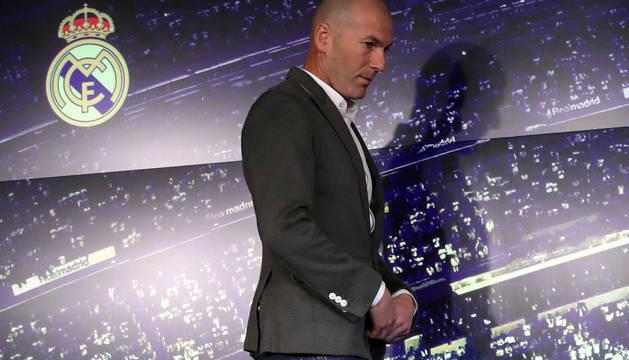 Zidane, entrenador del Real Madrid.