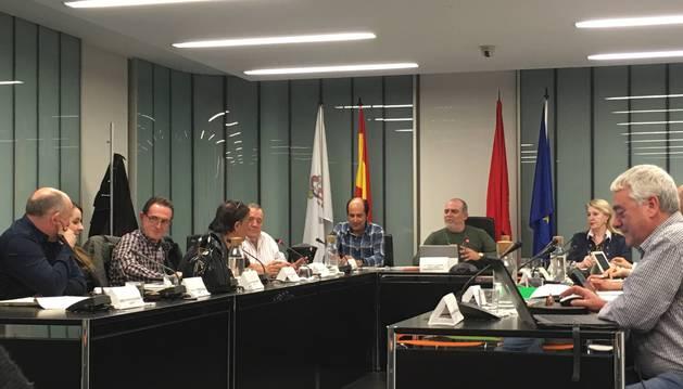 Un momento de la sesión celebrada ayer en el Ayuntamiento de Noáin (Valle de Elorz).