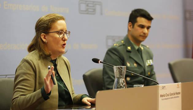Por la izquierda, María Cruz García Huesa y Carlos Redondo Gil.