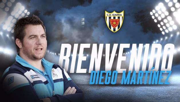 Foto con la que el equipo ha dado la bienvenida a Diego Martínez.