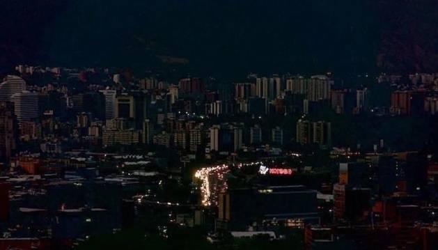 Foto del apagón en Venezuela.