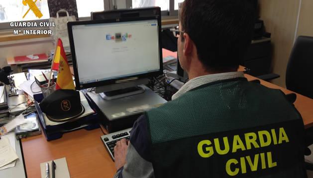 Foto de la investigación de Guardia Civil.