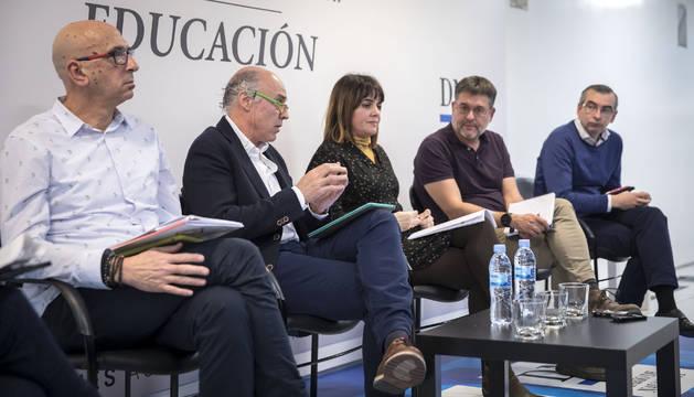 De izda. a dcha., Juan Carlos Laboreo, Manuel Martín, Anabel Ávila, José Luis García y Sergio Gómez Salvador.