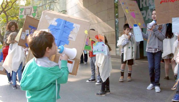 Imagen de un taller de activismo infantil anterior.
