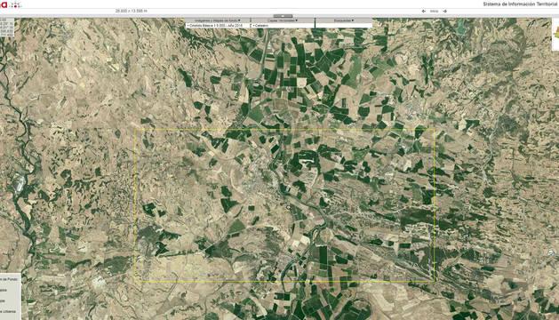 Captura de una imagen del portal SITNA del Gobierno de Navarra.