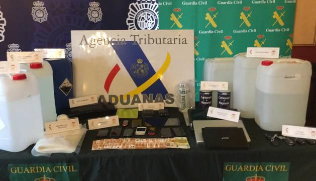 La operación ha sido desarrollada de forma conjunta por Guardia Civil, Policía y la Agencia Tributaria en Navarra.