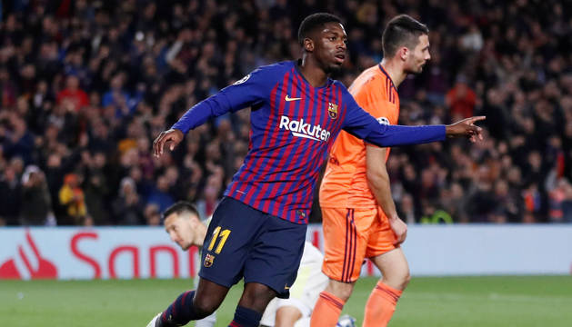 foto de El jugador del F.C. Barcelona Ousmane Dembélé.