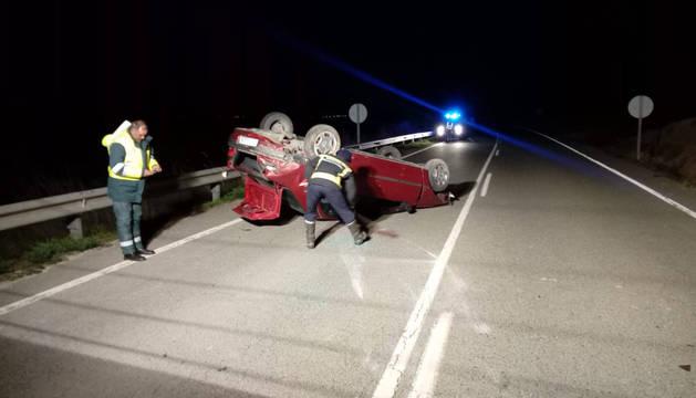 Una persona herida en un accidente de tráfico en la carretera NA-126 en Fustiñana