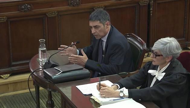 Foto de la señal del Tribunal Supremo con la declaración de Josep Lluís Trapero, jefe de los Mossos d'Esquadra durante el 1-O.