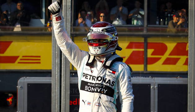 Lewis Hamilton, tras finalizar la carrera del Gran Premio de Australia.