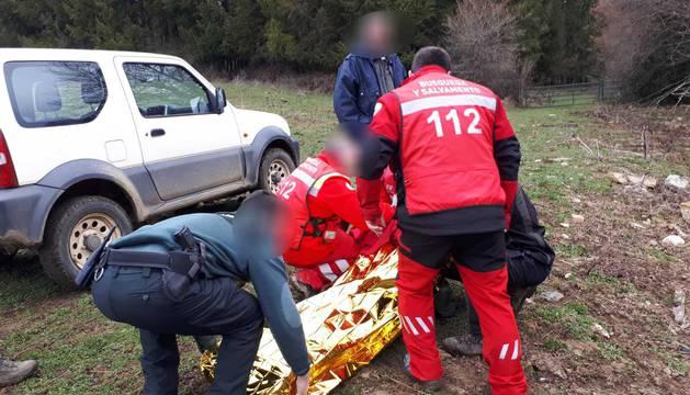Fotos de la búsqueda y rescate del anciano desaparecido en Burguete