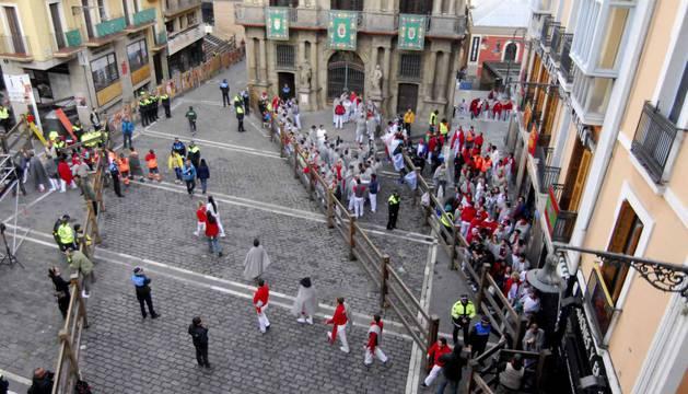 Rodaje de la película 'Line Walker II' en Pamplona
