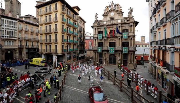 Fotos del rodaje de la película 'Line Walker II' en Pamplona