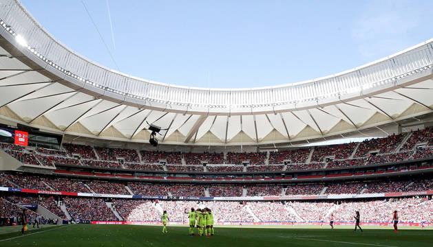 El Wanda Metropolitano, este domingo en el partido Atlético-Barcelona de la Liga Iberdrola.