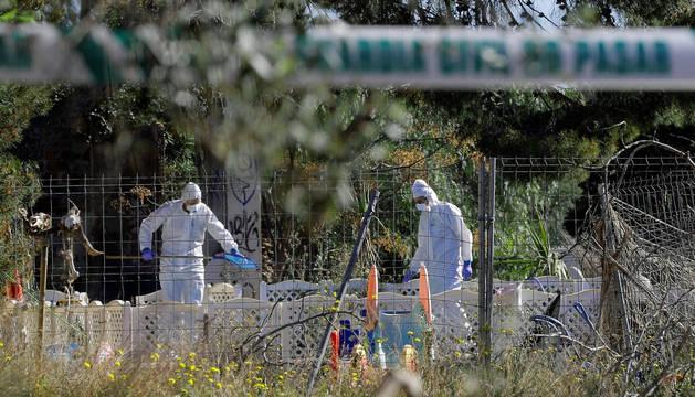 foto de Agentes de la Policía Científica de la Guardia Civil investigan la muerte de los dos niños de Godella