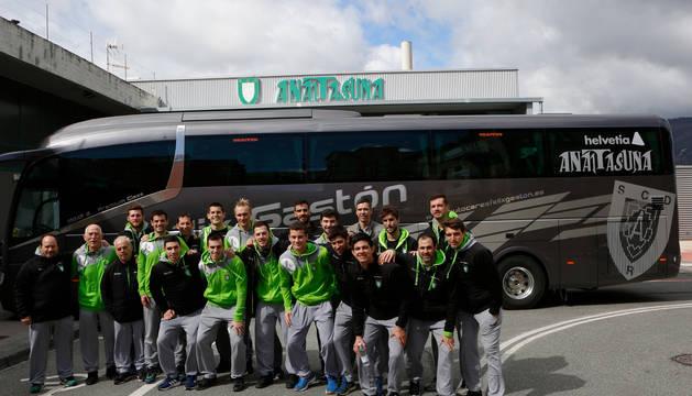 El Helvetia Anaitasuna, antes de su salida a Cuenca para disputar el partido de este martes.