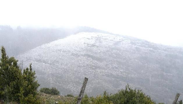 Una nevada anterior en Navarra