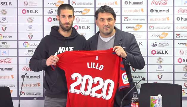 Lillo y Braulio Vázquez, en Tajonar.