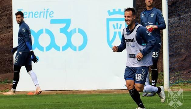 Paco Montañés, en el entrenamiento de este jueves.