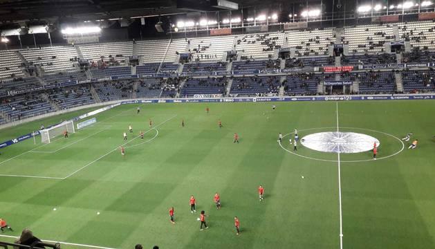 Aspecto del Heliodoro Rodríguez López, minutos antes del inicio del partido.