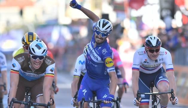 Alaphilippe se corona al esprint en la Milán-San Remo, con Valverde séptimo
