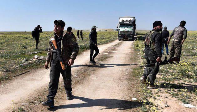 foto de Las Fuerzas Democráticas Sirias (FDS) han tomado Baghuz, el último enclave controlado por el Estado Islámico en Siria.