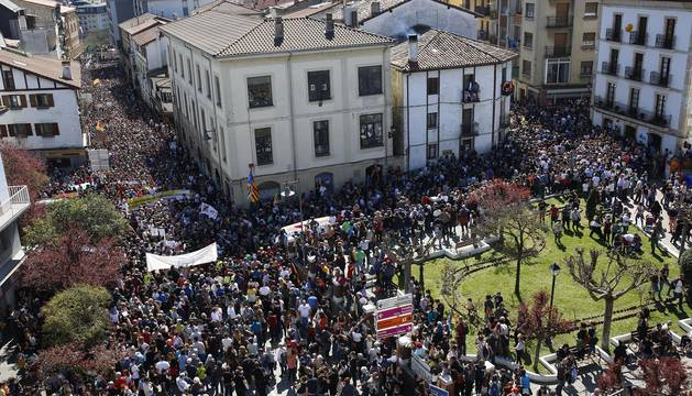 Manifestación en Alsasua contra la sentencia por la agresión a dos guardias civiles