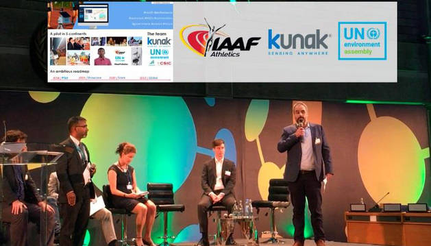 foto de El director de Desarrollo de Negocio de Kunak, Miguel Escribano, intervino en la mesa redonda sobre calidad del aire