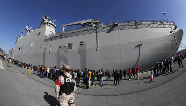 El portaaviones Juan Carlos I recibió a más de 13.500 visitantes