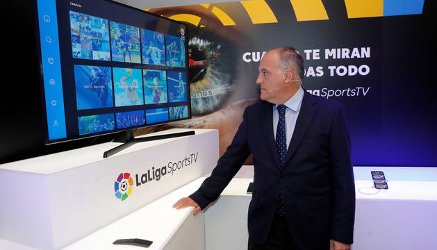 Javier Tebas, en la presentación de la LaLigaSportsTV.