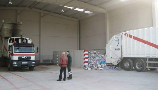 Detalle de una parte de las instalaciones de tratamiento de residuos en Arbizu.