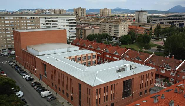 Imagen del Auditorio Barañáin, un edificio construido a instancias del Ayuntamiento de Barañáin.