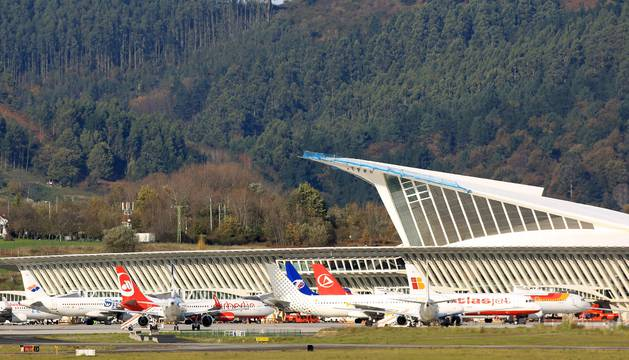 Aeropuerto de Loiu, en Bilbao.