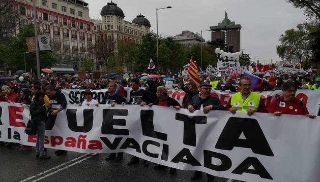 'La España vaciada' llena Madrid para pedir medidas contra la despoblación rural