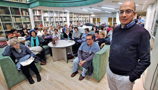 Jorge Volpi en el Club de Lectura de Diario de Navarra