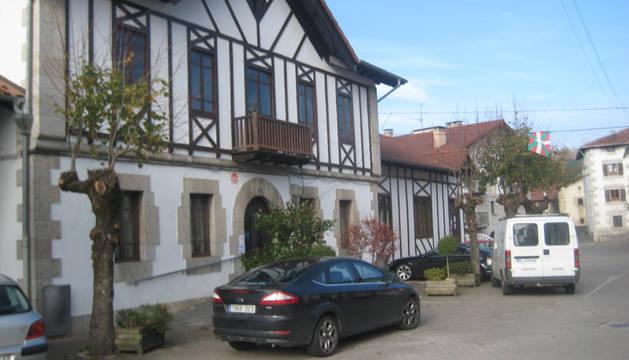 Fachada del Ayuntamiento de Lekunberri.